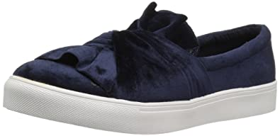 MIA Women's Zoe Fashion Slip On Sneaker Navy Velvet CHOOSE SIZE