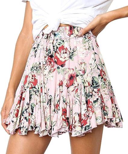 Falda plisada para mujer de cintura alta, falda para la playa ...