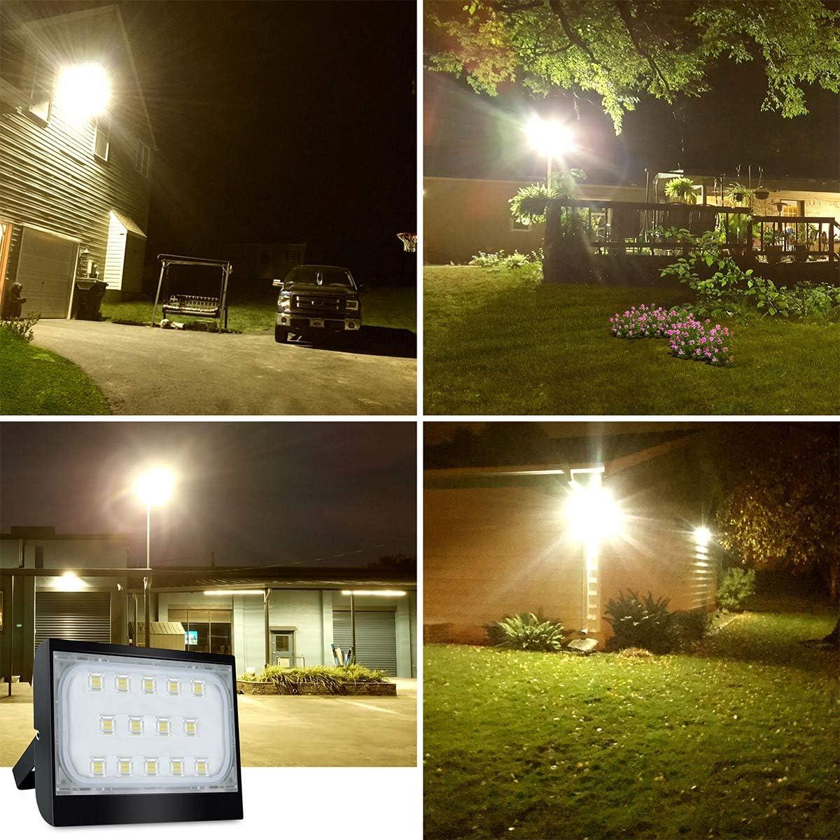 HXFYJ Reflector LED para Exteriores luz de Seguridad LED de 50 W focos LED s/úper Brillantes Impermeables IP65 para jard/ín garajes almac/én Vallas publicitarias Blanco c/álido,1 Pack Patio Patio