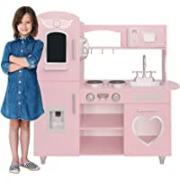 Kids House Cocina de Madera Deluxe Vintage Pink - Kids House Cocinita de madera