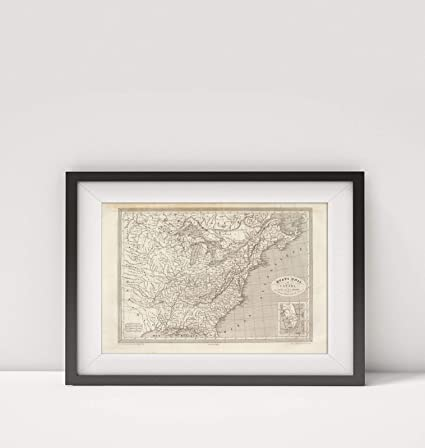 Amazon.com: 1837 Map of Canada|Etats UNIS et Canada|Eastern ... on europe map 1837, united states territories 1798 to 1846, new york map 1837, texas map 1837, canada map 1837, united states congressional districts,