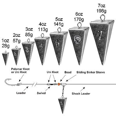 Pyramid Lead sinker 5oz pack of 3 sinkers