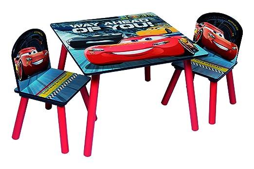 Disney, Cars 3 85873-s – Juego de Mesa + 2 sillas, MDF, Rojo/Gris ...