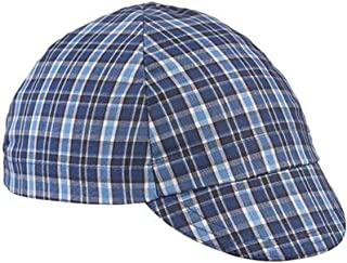 product image for Walz Caps Blue/Black 4-Panel Plaid Cycling Cap