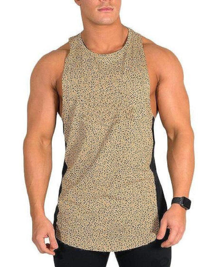 Abeaicoc Mens Sport Training Sleeveless Fitness Jersey T-Shirt Tank Top Vest