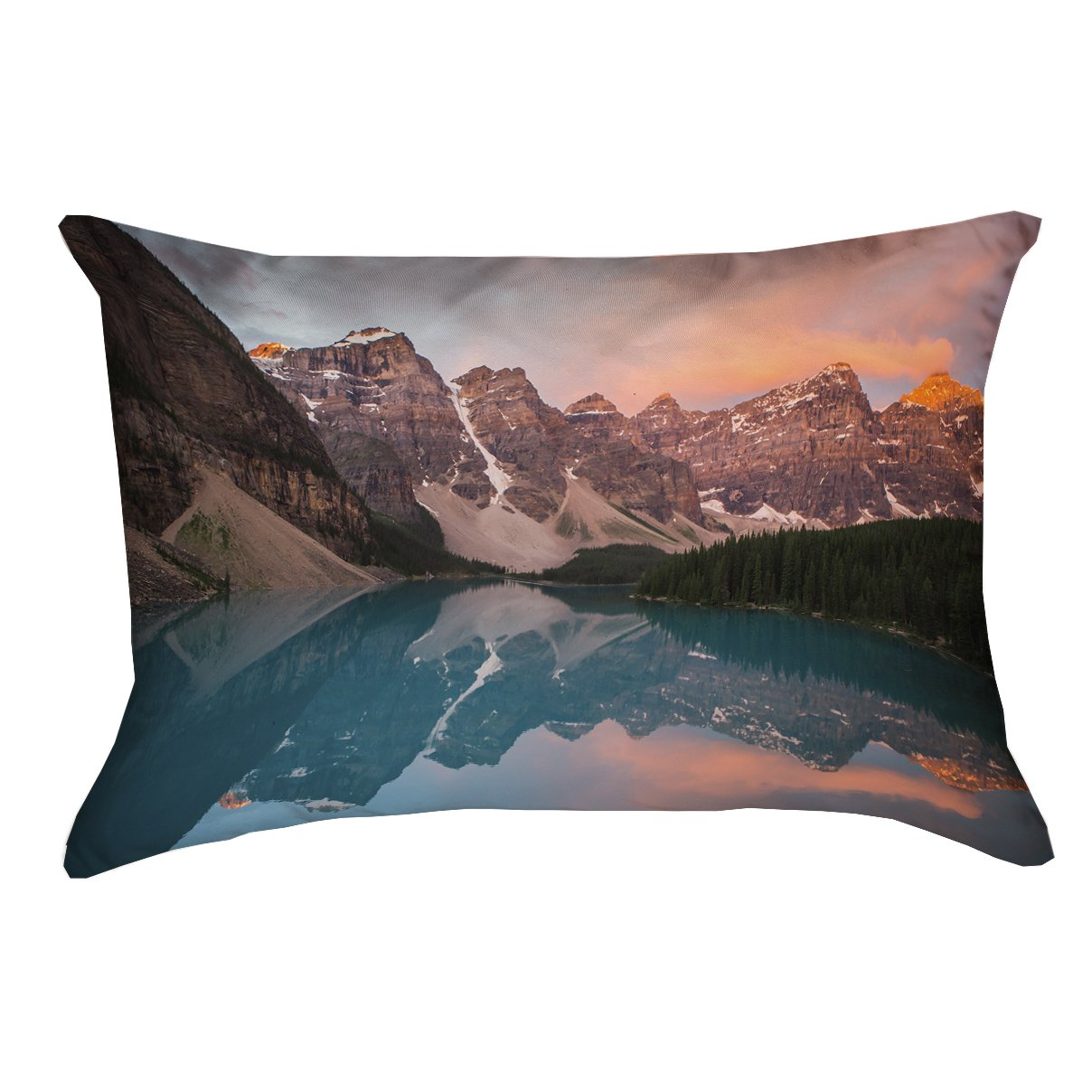 ArtVerse Garrett Parker 14 x 20 Indoor//Outdoor UV Properties-Waterproof and Mildew Proof Valley and Mountains at Sunset Pillow
