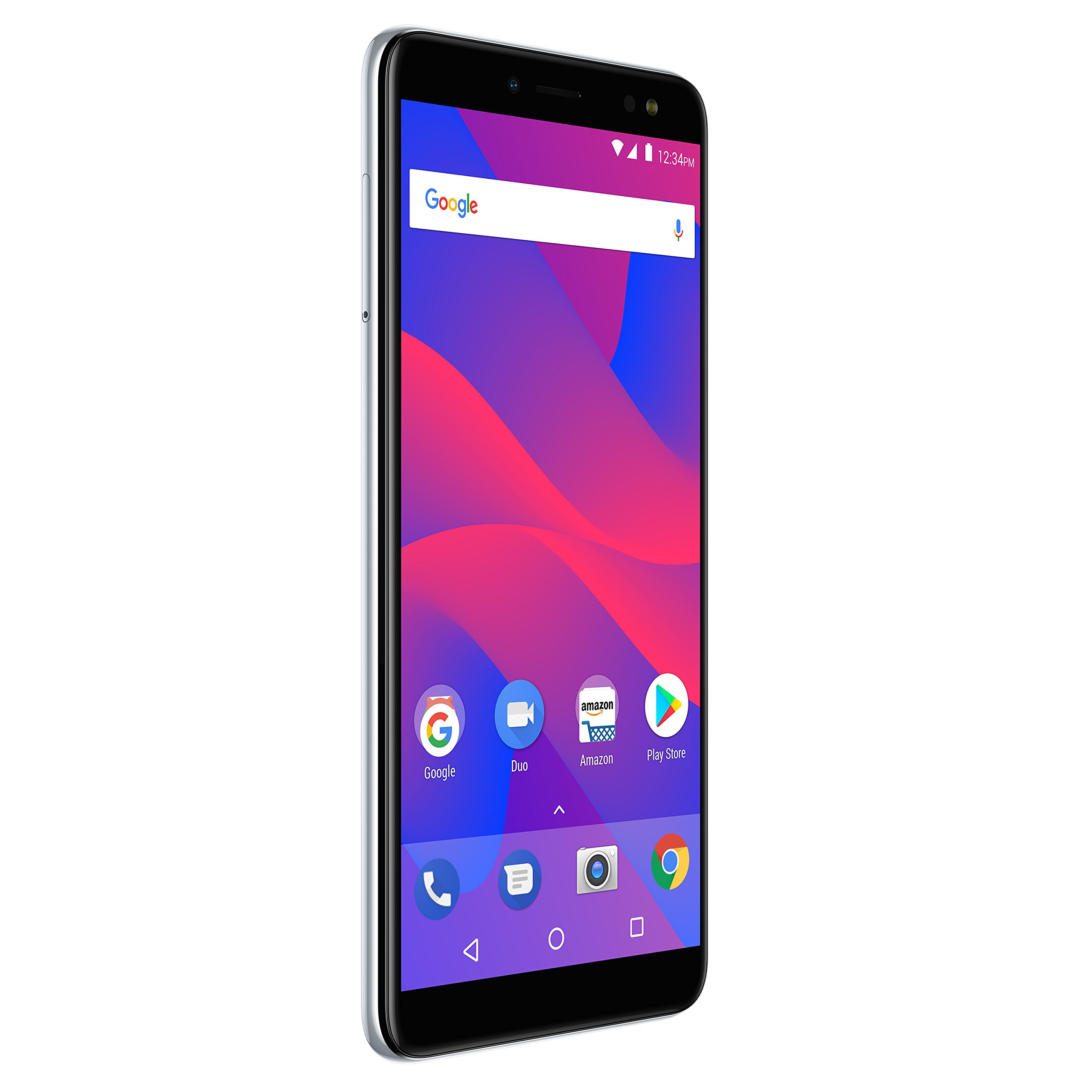 """BLU Vivo XL3 -5.5"""" HD+ 18:9 Display Smartphone with Android 8.0 Oreo –Silver"""