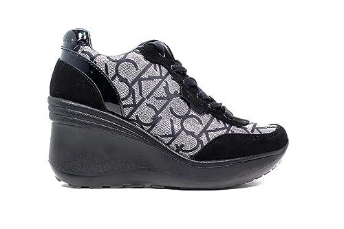 Calvin Klein Jeans Mujer Jamie Zapatillas de Gimnasia Negro Size: 36: Amazon.es: Zapatos y complementos