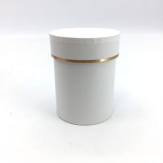 Pandecor - Caja Redonda de cartón Blanco 8 x 10 cm.: Amazon.es: Hogar