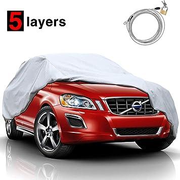 2 Layer Car Cover Breathable Waterproof Layers Outdoor Indoor Fleece Lining Fiz