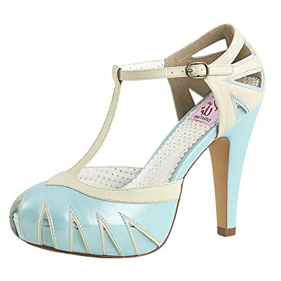 Heels-Perfect Pin Up Pumps Damen Blau (Blau)