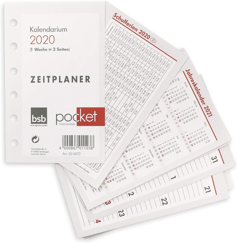 Kalendereinlage A6 2019  Brunnen  1Woch = 2 Seiten  Timereinlage