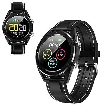 Reloj Inteligente multifunción para Hombres, Pantalla a Color Control de presión Arterial Smartwatch Modo multideportivo Monitorización de ECG para ...