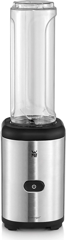 WMF Kult X Mix & Go Mini Batidora de Vaso Individual 300 W de 0.6 L de capacidad y 4 cuchillas alta calidad, exterior acero inoxidable de cromargan, depósito de TRITAN libre de BPA