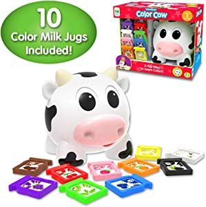 The Learning Journey Learn With Me – Color Cow – Color & Flavors Teaching Toddler Toys & Gifts for Boys & Girls Ages 2 Years and Up – Preschool Learning Toy