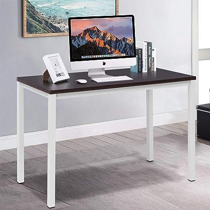 WenstsKufAN Mesa de escritorio para computadora de estudio ...