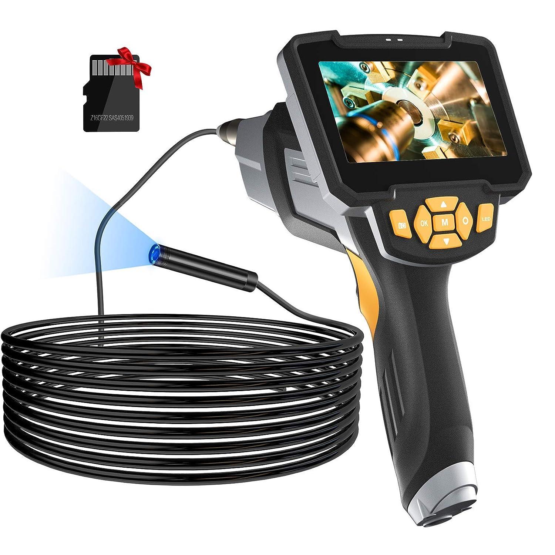 Borescope Inspection Camera, LONOVE Upgraded 1080P HD Detachable & Waterproof Endoscope Camera Snake Camera with 4.3