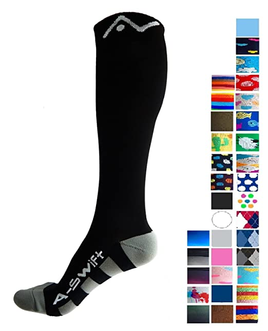970313e1d Amazon.com  A-Swift Compression Socks (1 pair) for Women   Men by ...