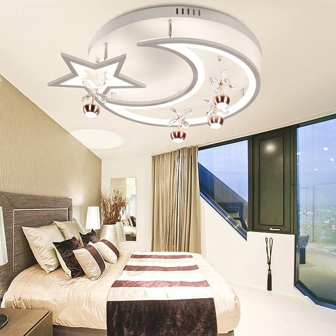 WXW Lámpara de Techo posmoderna para Dormitorio Estrella ...