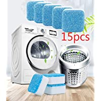Effervescent Tablet Washer Cleaner,Solid Washing Machine Cleaner,Deep Cleaning Remover with Triple Decontamination for Bath Room Kitchen (15pcs)