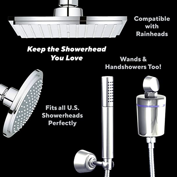 Geneva Bathworks Shower Filter for Hard Water - Universal Inline ...
