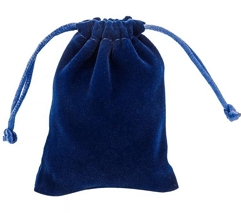 10 20 50 Dicke Samt Schmuck Kordelzug Hochzeitsgeschenk Tasche Favour Beutel Taschen (Marine Blau, 5x7cm (10 Stück)) 5x7cm (10 Stück)) Bullahshah