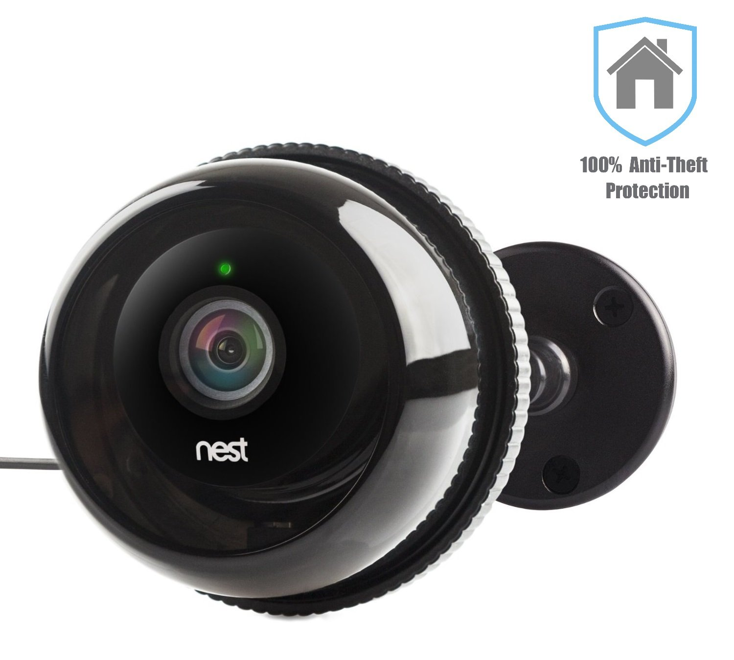 case for nest cam for outdoor camera cases w gooseneck wall mount for dropcam pro in black by. Black Bedroom Furniture Sets. Home Design Ideas