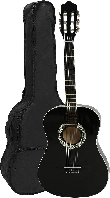 Navarra NV16 - Guitarra clásica 1/2 con Gig Bag, Negro