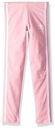 55b8c8c00 adidas Originals Little Girl's 3 Stripes Leggings Pants, light pink/white,  ...