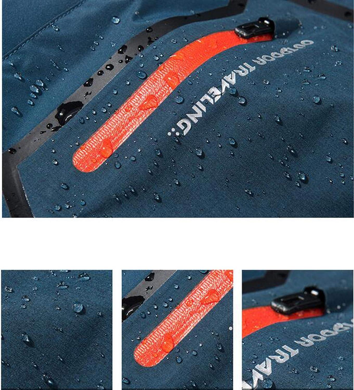 LNYF-OV Chaquetas al para Aire Libre para al Hombres Ropa Deportiva de Invierno 3 en 1, con Terciopelo Interior Impermeable a Las agallas Transpirable, esquí Alpinismo, Gris 46a4c8