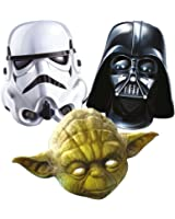 Star Wars 3 Mask Pack - Stormtroooper, Darth Vader and Yoda