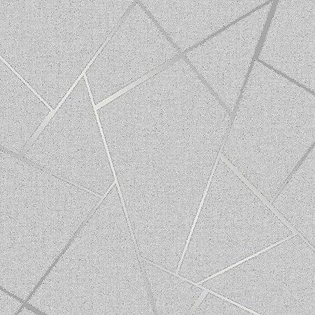Fine Decor Torino papier peint FD40240-Texturé feuillage Trail Argent Métallisé