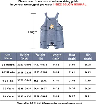 pureborn Baby Toddler Boy Girl Overalls Pants Suspender Trousers Stripes Outfits