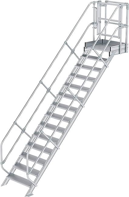 GÜNZBURGER STEIGTECHNIK Escalera módulo 14 peldaños: Amazon.es: Oficina y papelería