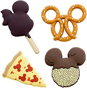 Disney Parks 4 Disney Food Magnets Pizza, Mickey Ice-Cream, Cookie, & Pretzel