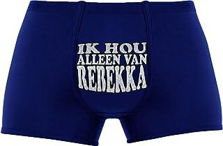 Koele Geschenk - Ik Hou Alleen Van Rebekka - Verjaardag - Bexyshorts - Verrassing - Cadeaus - Kerstmis - nieuwjaarsfooi - Holland Souvenirs