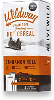 product image for Wildway Grain-free, Keto Hot Cereal: Cinnamon Roll, 7oz (4 Pack)