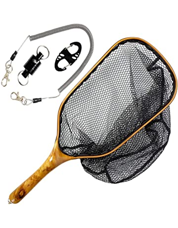 7be3d047854 SF Fly Fishing Landing Net Soft Rubber Mesh Trout Net Catch and Release Net