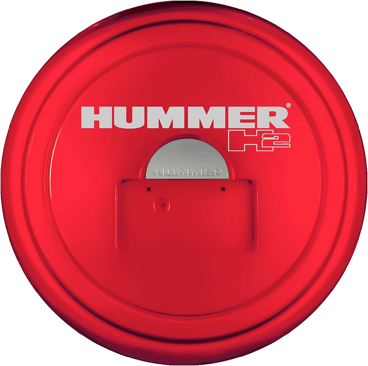 Boomerang Hummer H2 Painted Plastic Face /& Black Powder Coated Steel Ring - Hummer H2 Logo 05-10 - MasterSeries Hard Tire Cover - All Terrain Blue