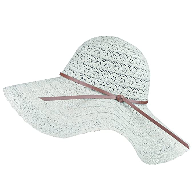 29b7f7f2 DRESHOW Beach Sun Hat for Women Summer Floppy Hat Wide Brim Roll up Packable  Lace Hat Cap with UV Protection UPF 50+: Amazon.in: Beauty