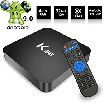 Android TV Box Android 9.0 TV Box 4GB RAM 32ROM Amlogic S905X2 Quad Core Bluetooth 4.1