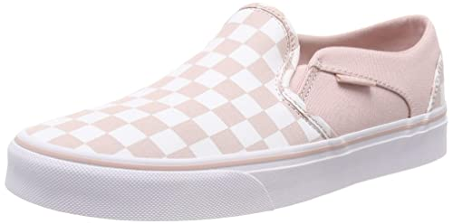 5680b3b68215b9 Vans Women s s Asher Classic Slip On Trainers Multicolour ((Checkerboard)  Sepia Rose White