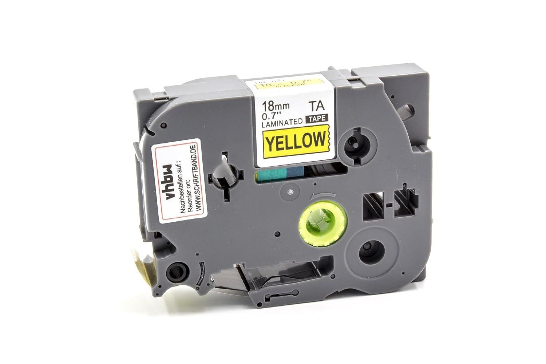 2450 DX 2430 PC TZE-641. vhbw Kassette Patronen Schriftband 18mm gelb f/ür Brother P-Touch 2420 PC 2730 VP wie TZ-641 2500 PC 2450 CC