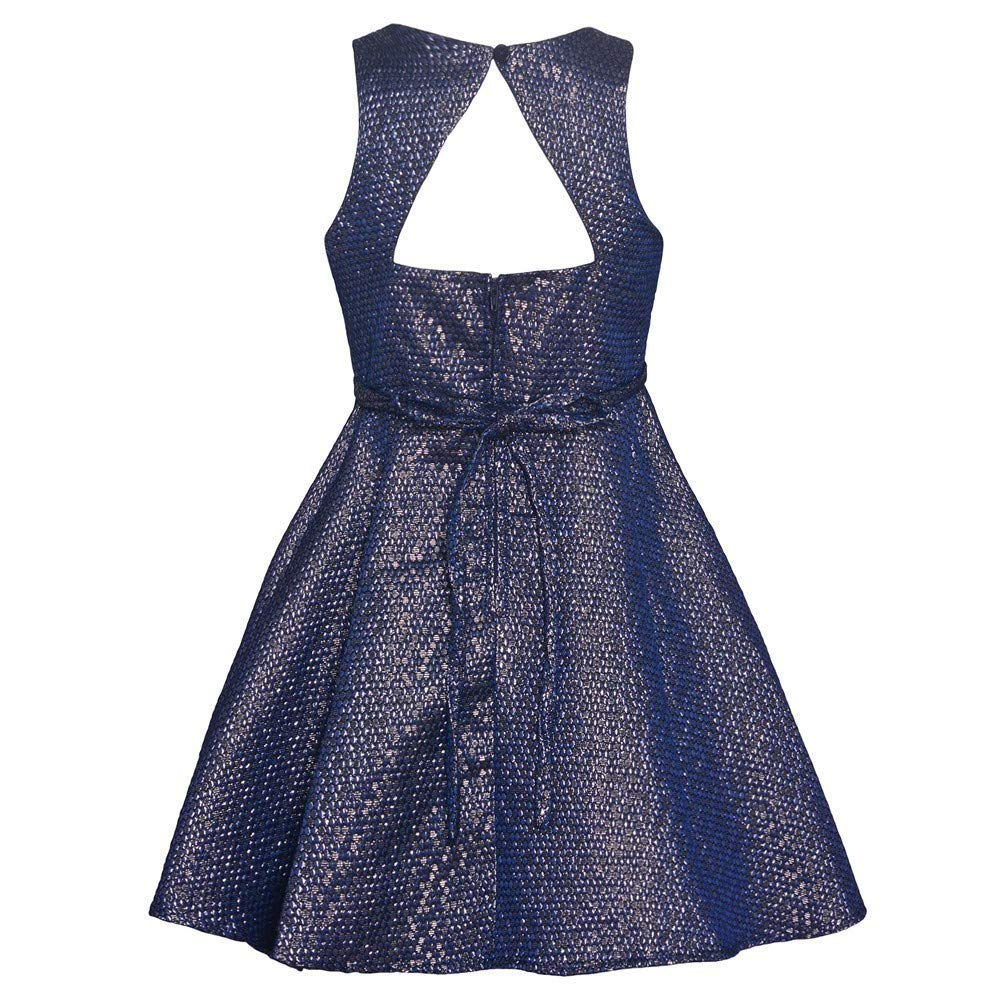 Rare Editions Christmas Dresses.Amazon Com Rare Editions Big Girls Navy Fit And Flare Tea