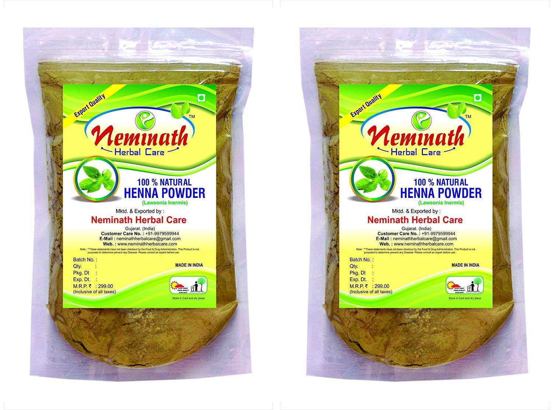 100% Natural Henna Leaves (LAWSONIA INERMIS) Powder Combo (454 g) Neminath Herbal