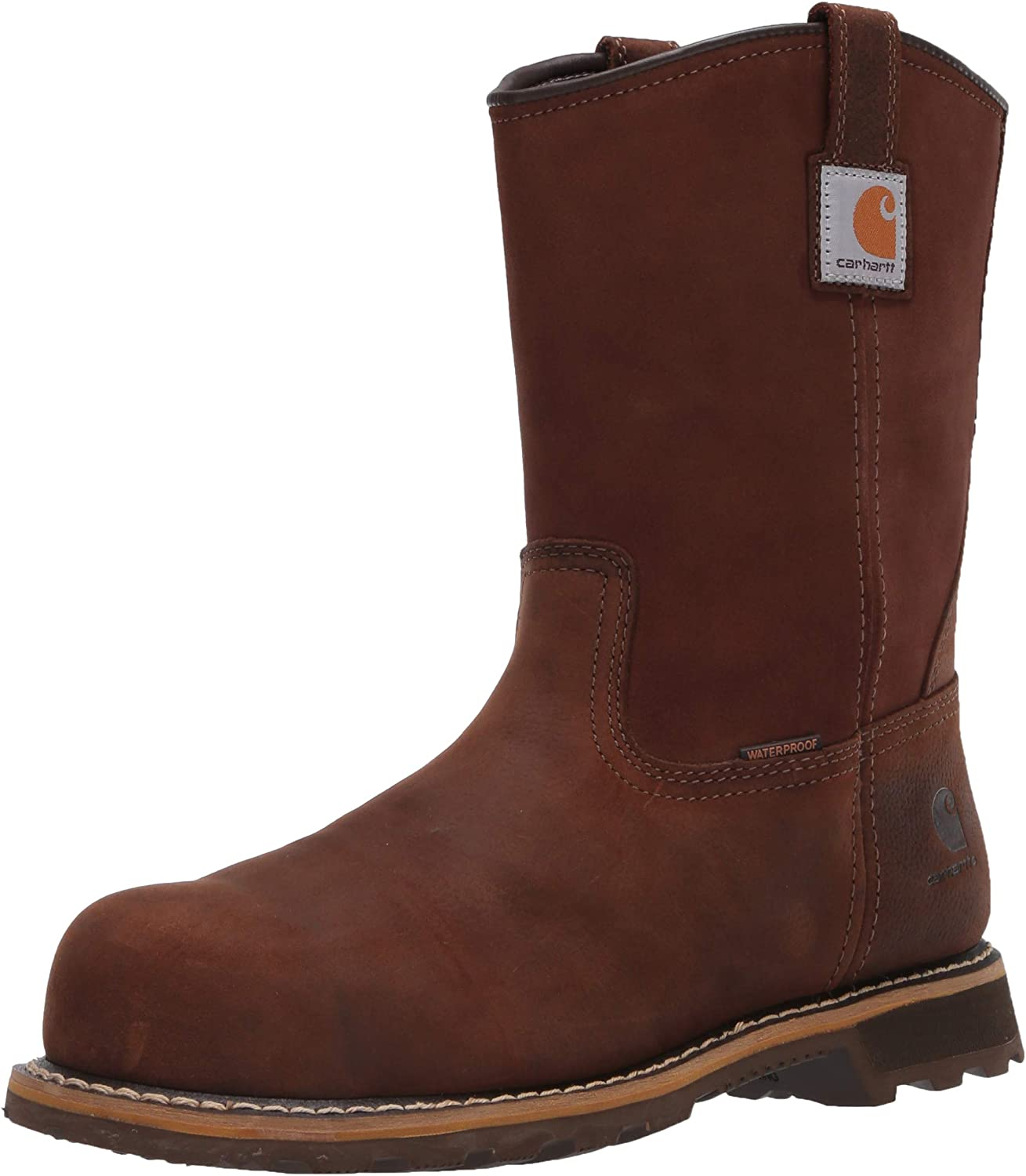 Carhartt Men's 10in Pull on Wp Nano Toe Boot Industrial