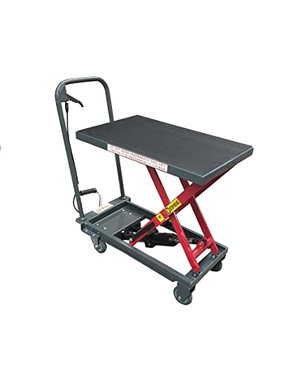 Pake Handling Tools   Hydraulic Manual Scissor Lift Table, 500lbs (1000lbs)