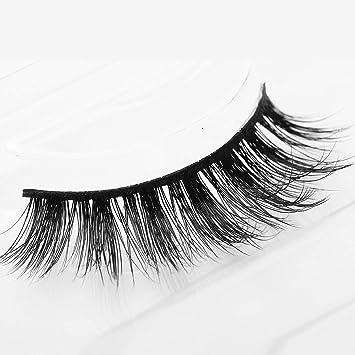 29af75e32af Image Unavailable. Image not available for. Color: Arimika Handmade Natural  3D Authentic Mink False Eyelashes For Makeup 1 Pair Pack ...