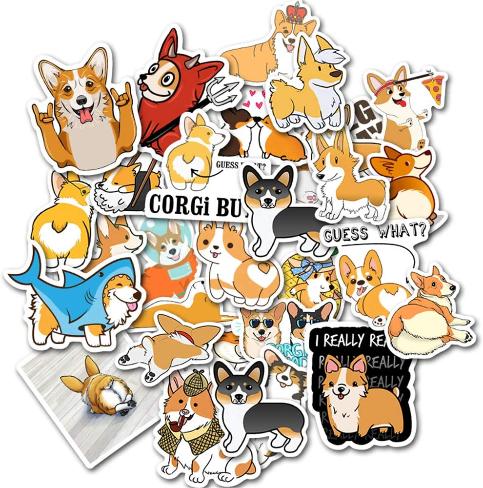 Laptop Stickers Pack DIY Dogs Stickers 50PCS Water Bottles Stickers Cute,Waterproof,Aesthetic,Trendy Stickers for Teens,Girls Perfect for Waterbottle,Laptop,Phone,Travel Case