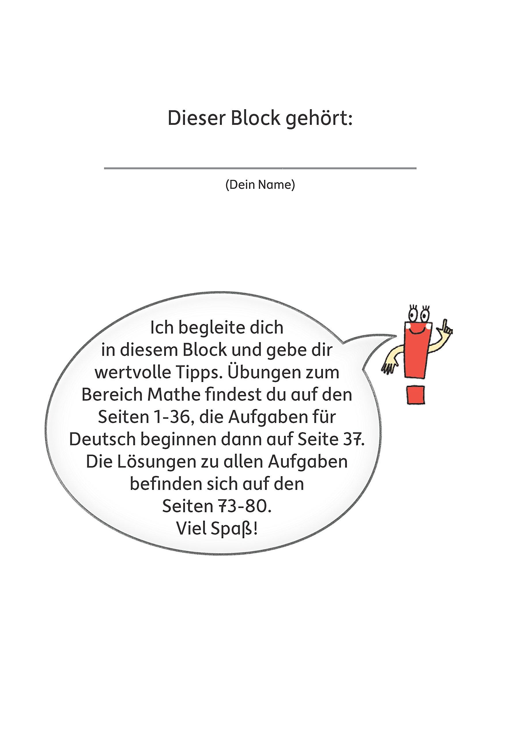 Quer durch die 3. Klasse, Mathe und Deutsch - Übungsblock (Lernspaß ...